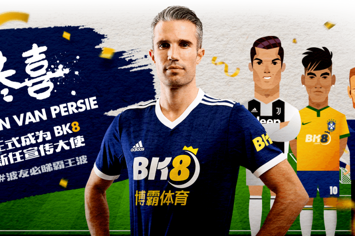 Arguably The Best Striker of His Generation, Robin Van Persie, is Signed-up by BK8 as Their Official Brand Ambassador for 2019-2020